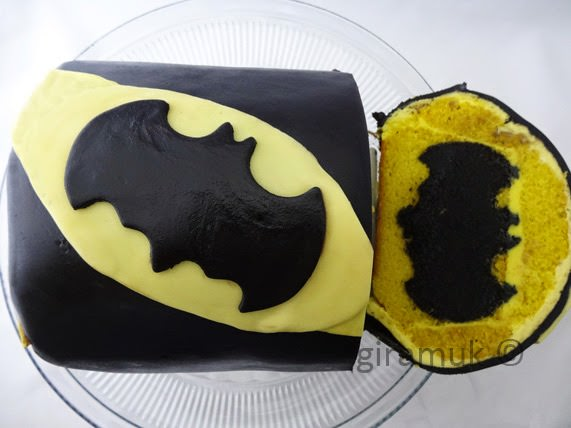 Surprise Inside Batman Cake