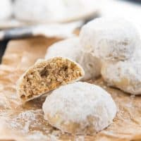 Mexican Wedding Cookies - Also known as Snowball cookies or Russian Tea Cakes. This nutty, buttery cookie is the perfect cookie to be made for any special occasion! Easy recipe and perfect for Christmas too.
