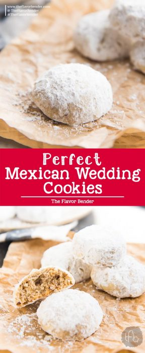 Mexican Wedding Cookies - Also known as Snowball cookies or Russian Tea Cakes. This nutty, buttery cookie is the perfect cookie to be made for any special occasion! Easy recipe and perfect for Christmas too.#MexicanWeddingCookies #ChristmasCookies #HolidayRecipes #SnowballCookies #RussianTeaCakes