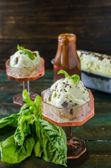 Basil Vanilla Ice Cream