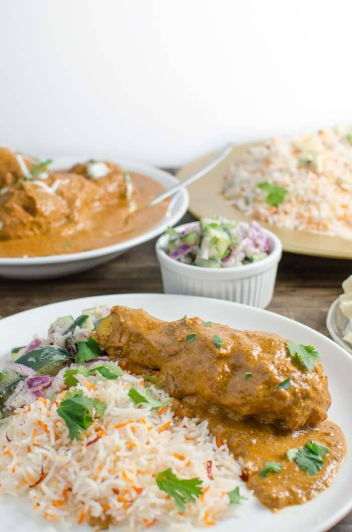 Delicious Butter Chicken without Cream (Murgh Makhani) - Just as creamy, with all the authentic flavors, so it's even better for you! You won't miss the cream at all - you won't even know it's not there