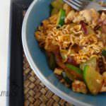 10 minute Chicken stir-fry Ramen Noodles