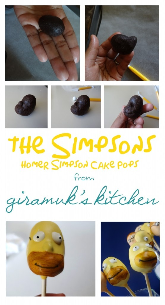 Homer Simpson Cake Pop