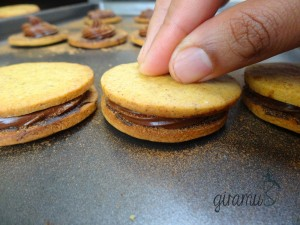 Pumpkin Spice Cookie with Mocha Filling