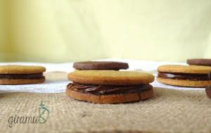 Pumpkin Spice Cookie with Mocha Filling & Mocha Cookie with Pumpkin Spice Ganache