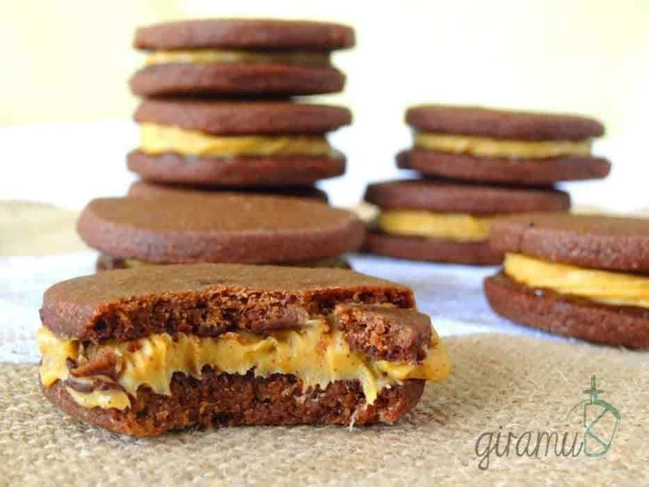 Mocha Cookies with Pumpkin Spice Filling