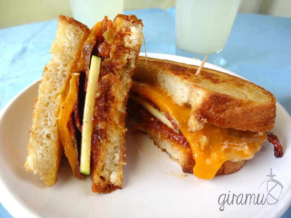 Apple & Bacon Grilled Cheese Sandwich
