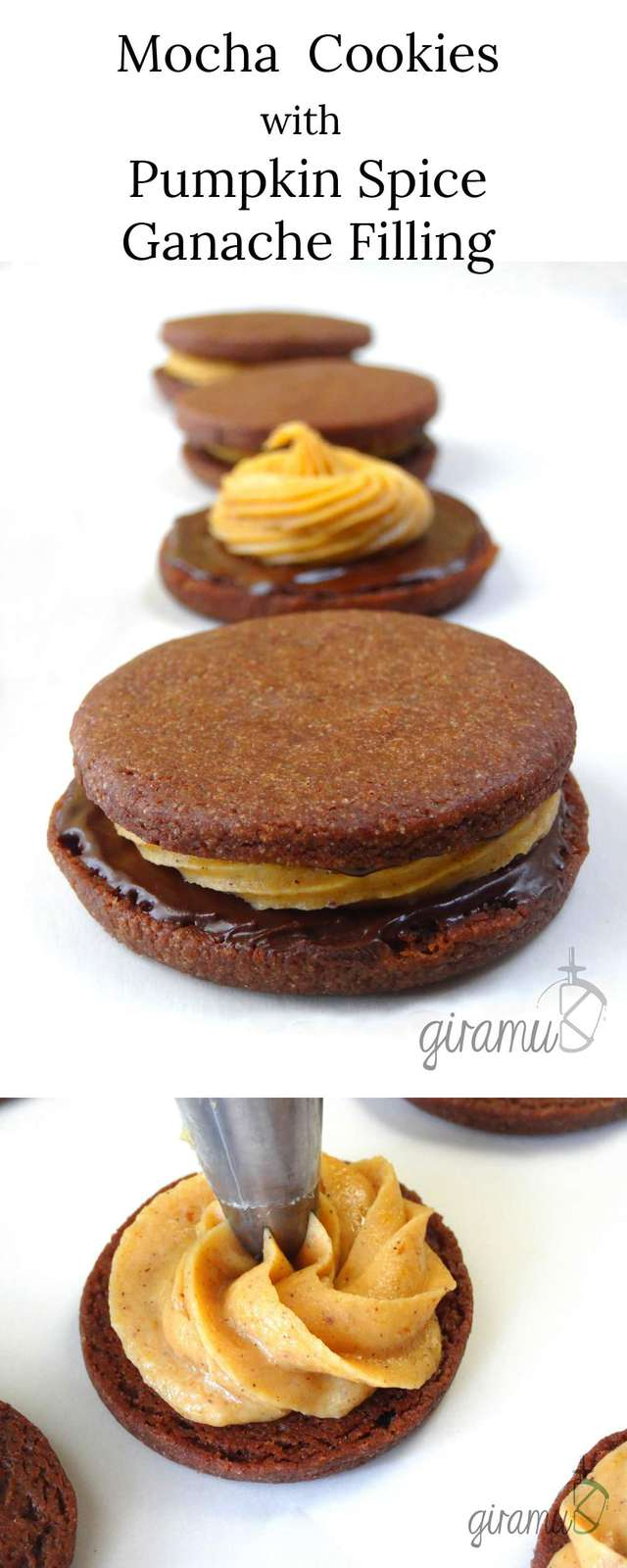 Mocha Cookies with Pumpkin Spice Ganache Cookies! Perfect cookies for Fall!