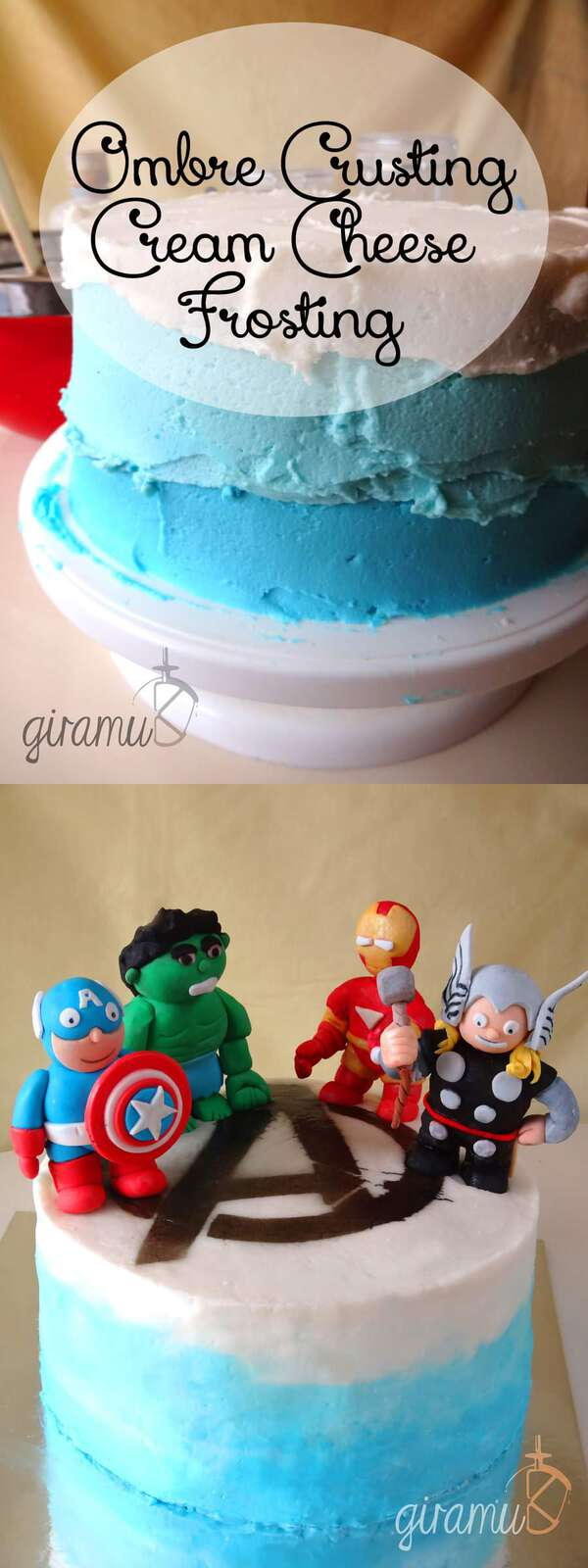 Ombre Crusting Cream Cheese Frosting