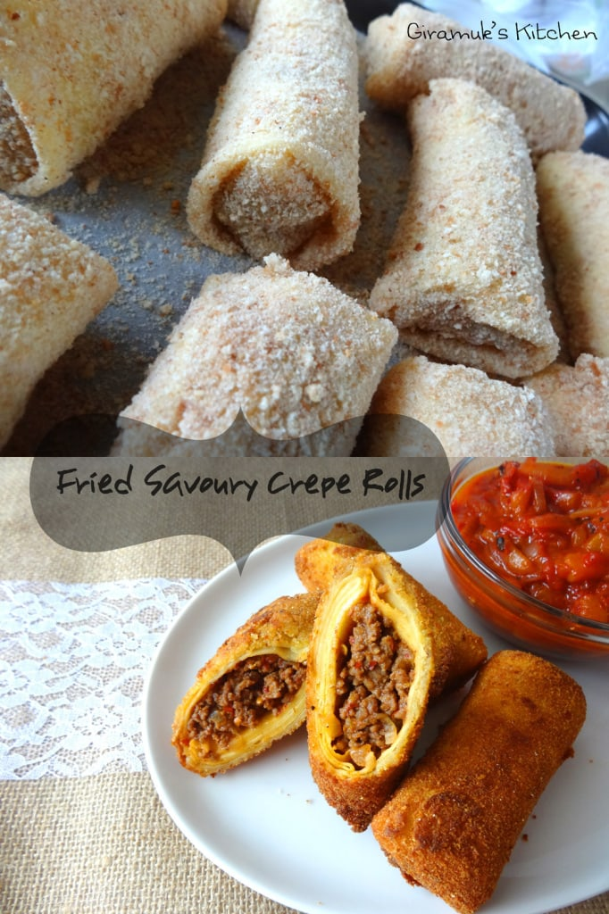 Fried Savoury Crepe Rolls The Flavor Bender