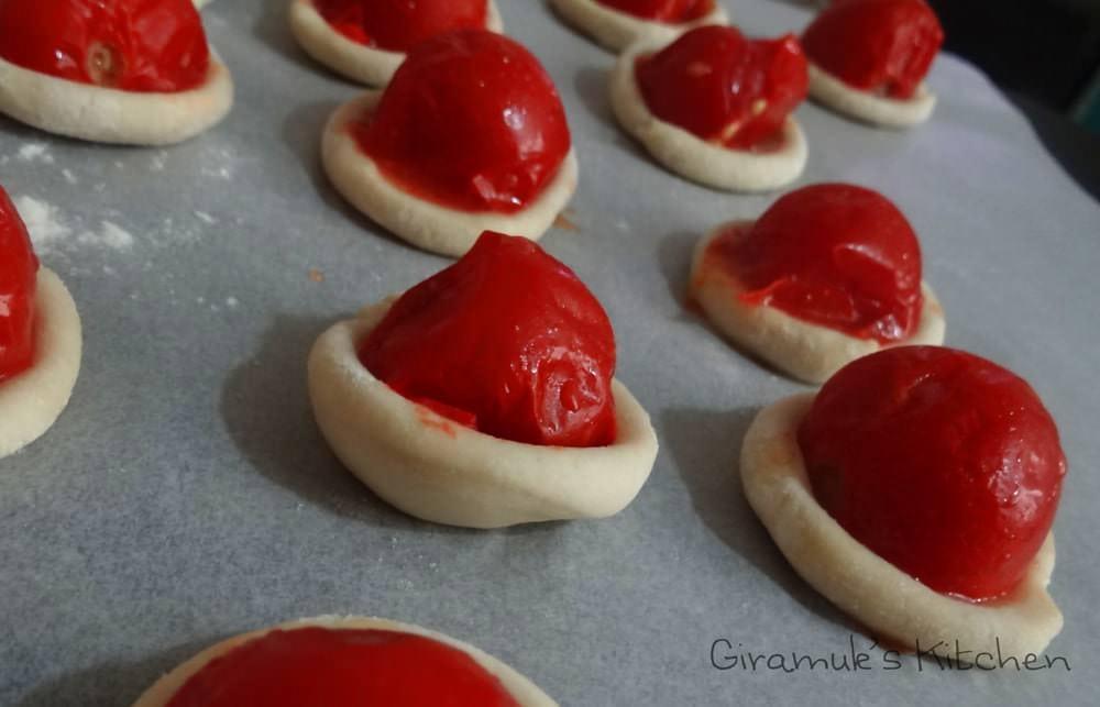 Cherry Tomato, Basil, Goat Cheese Appetizer
