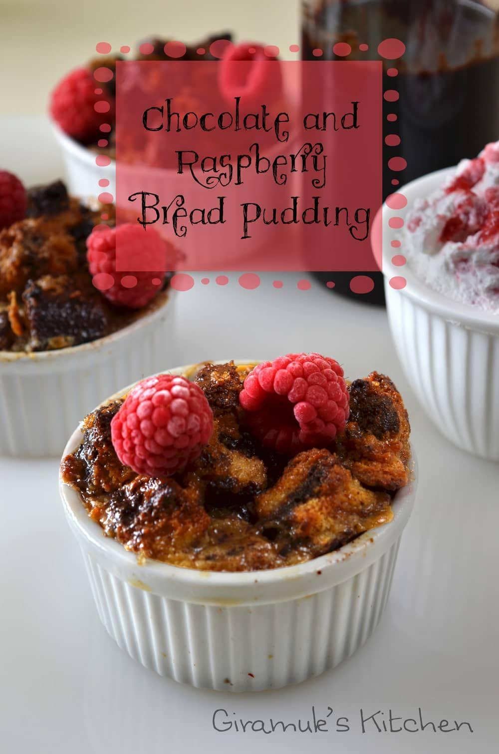 Chocolate Raspberry Bread Pudding