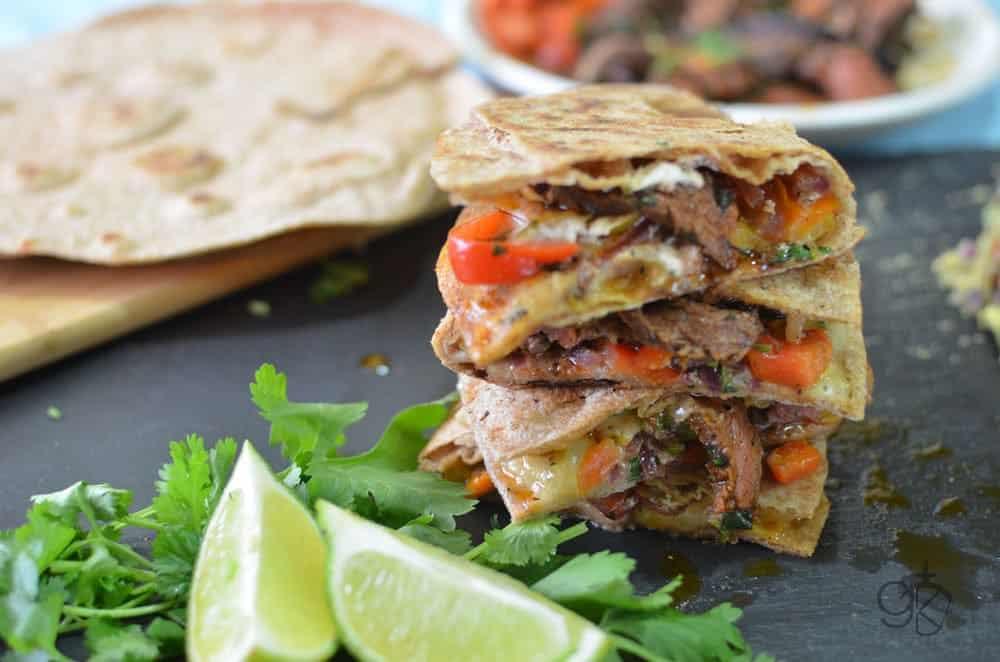 Spicy Fajita Steak Quesadilla