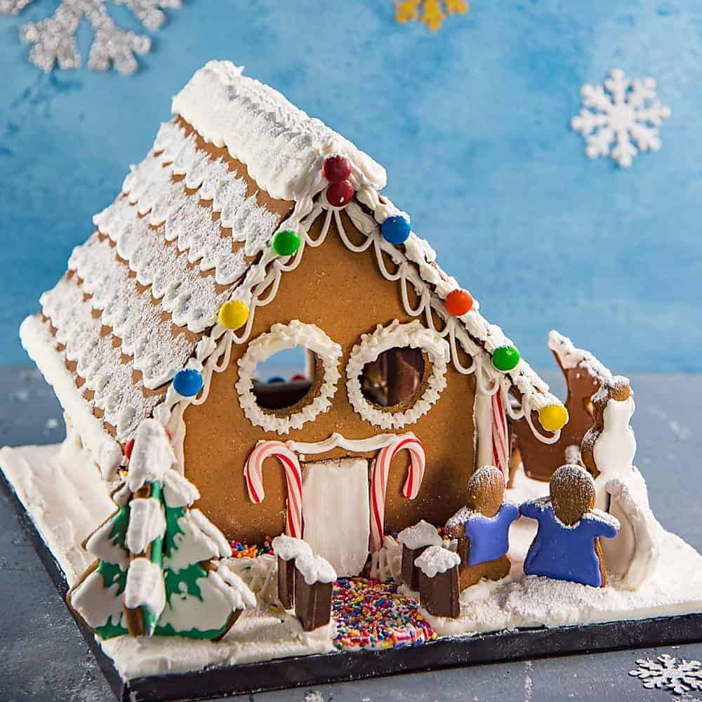 Simple Gingerbread House Recipe: Gingerbread House (Recipe & Template)
