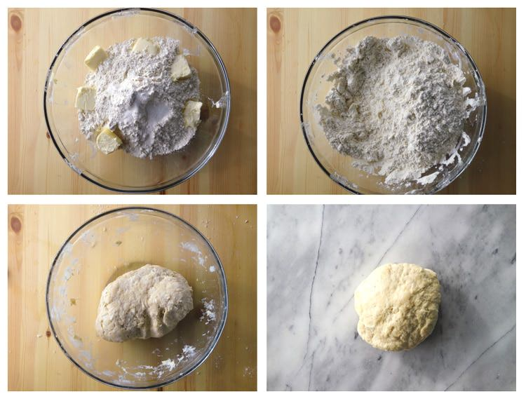 making the dough (détrempe)– the only time you need to rest the dough (about 10 minutes) ...