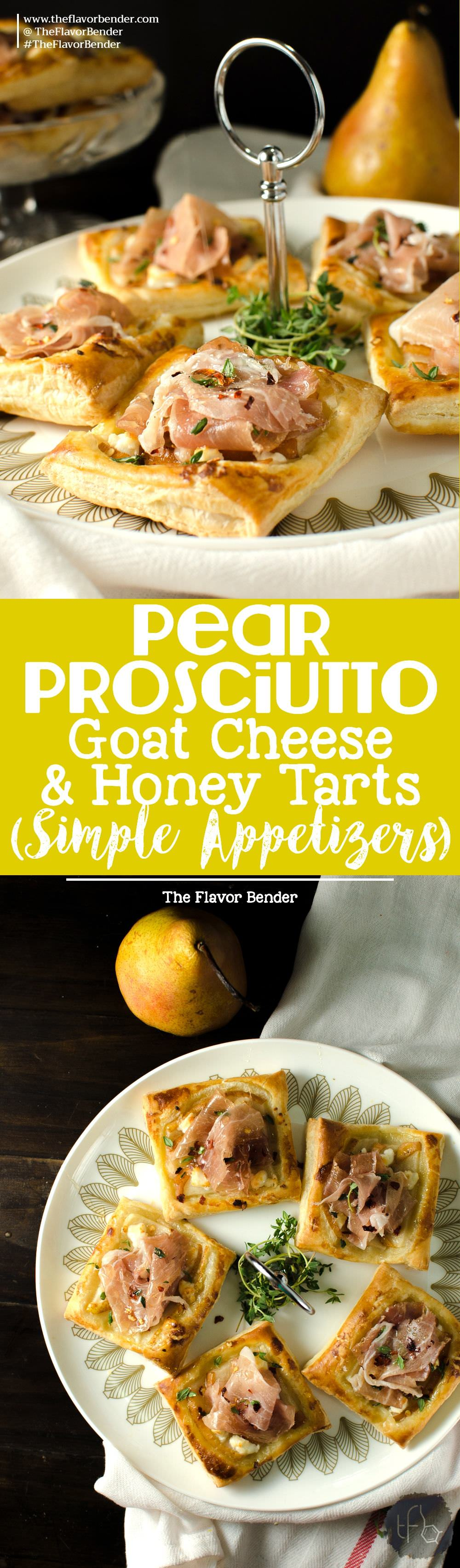 Pear, Prosciutto, Goat cheese & Honey tarts - A quick and ea..