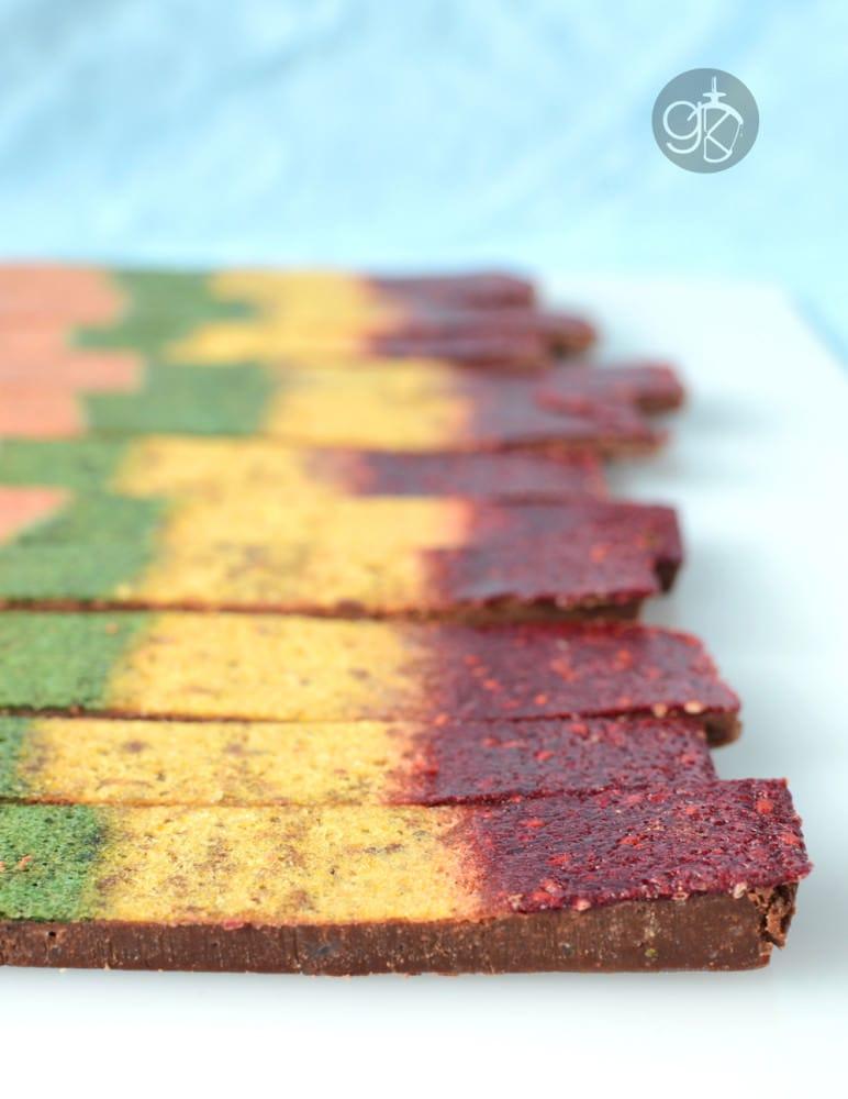 Doctor Who inspired Chocolate Rainbow Fruit Bar