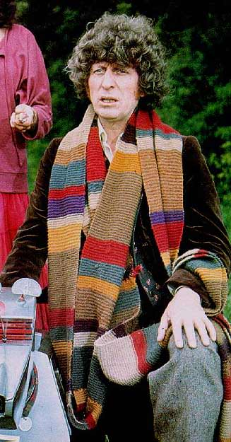 The Fourth Doctor & his scarf!