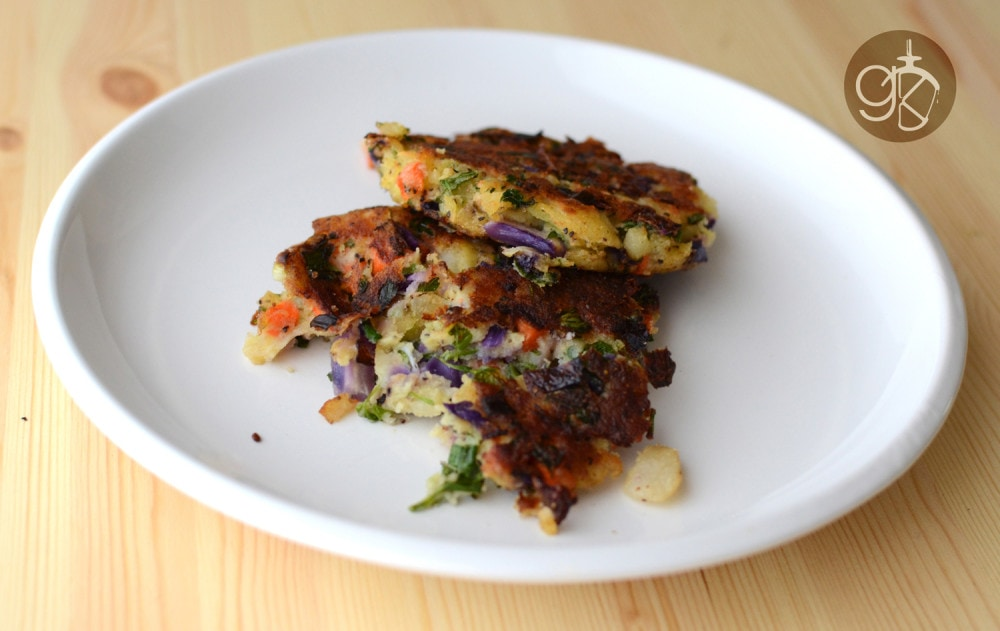 Asian Spiced Breakfast Sausage and Bubble & Squeak Stacks