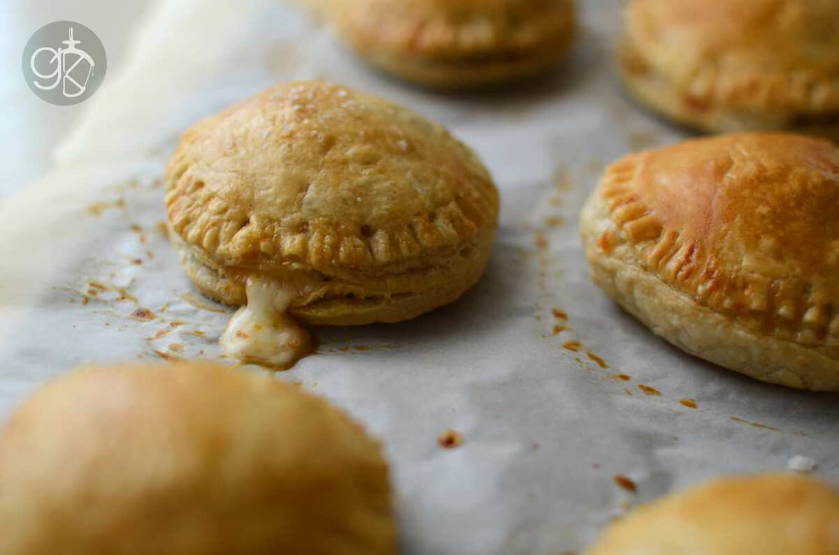 Roasted Eggplant Caponata and Cheese Hand Pies