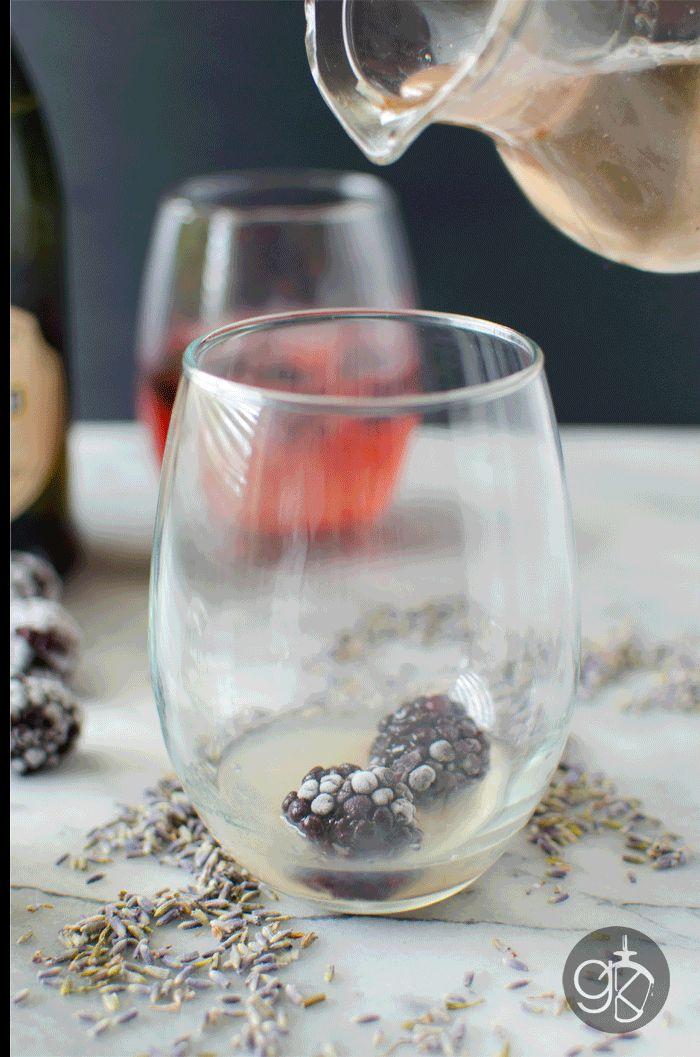 Lavender Syrup Blackberry Cocktail