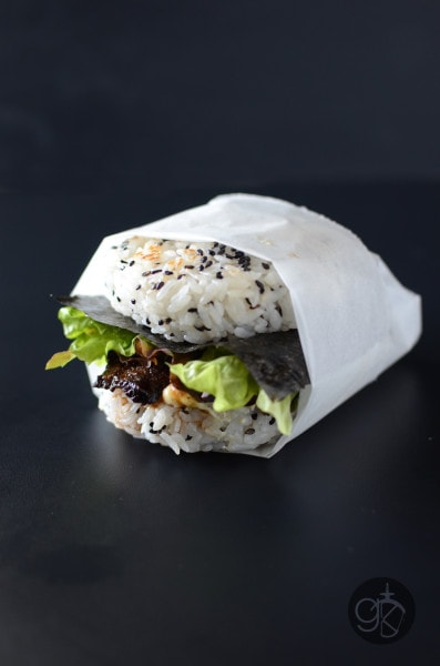 Teriyaki Flank Steak Sushi Burger