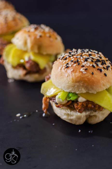 Miso and Mango Lamb Sliders with {Almost} No Knead Slider Buns