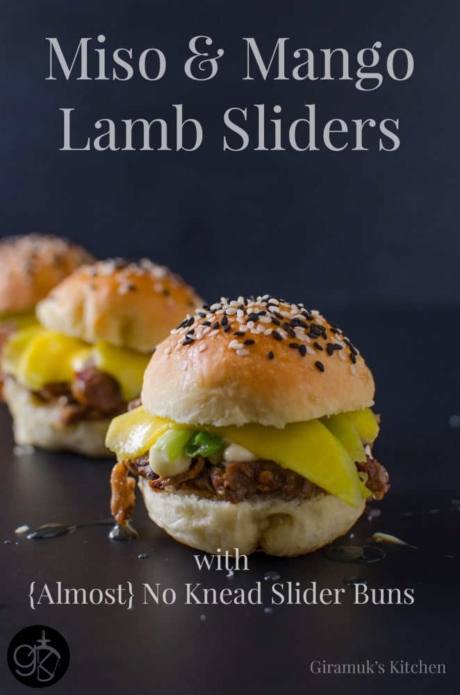 Miso and Mango Lamb Sliders with Almost No Knead Slider Buns
