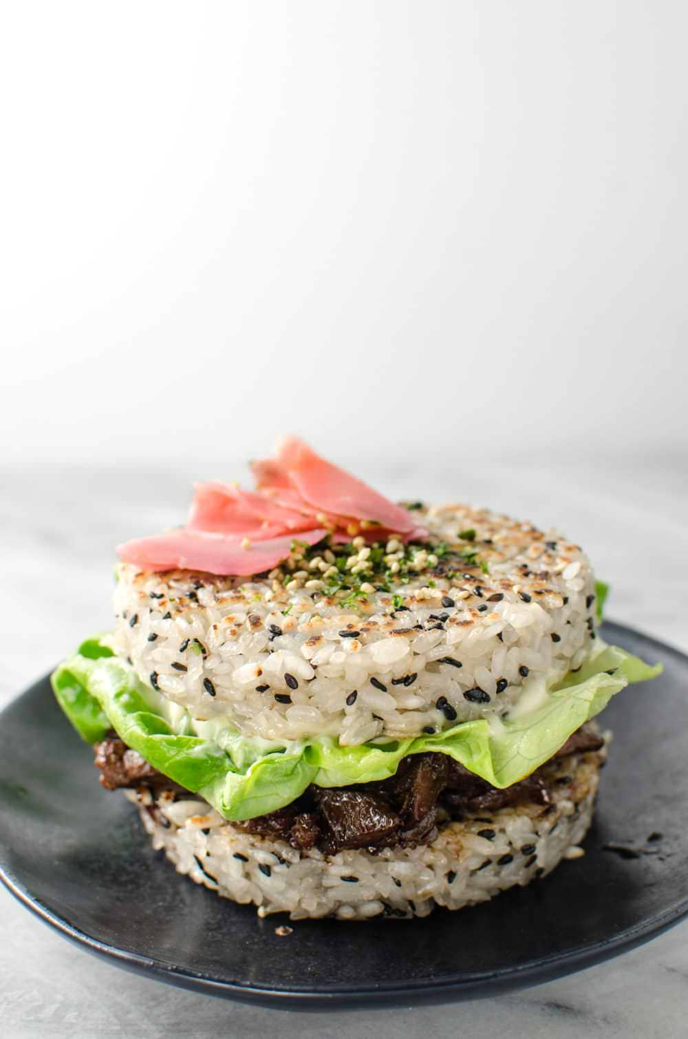 Teriyaki Steak Sushi Burger | The Flavor Bender