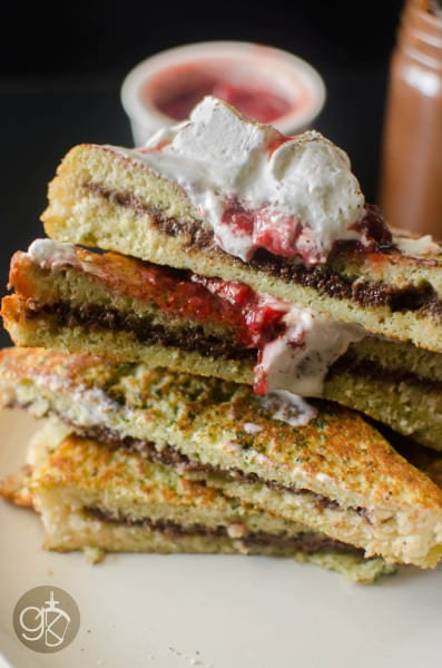 Dairy Free Nutella Stuffed Basil French Toast with Brioche