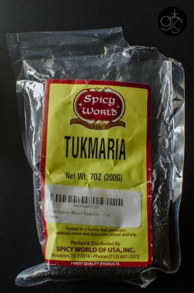 Sri Lankan Faluda syrup from scratch and how to make the faluda/falooda drink. - Tukmaria, or Basil seeds or kasa kasa for Faluda.
