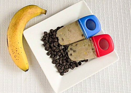 25 Delicious Frozen Treats for this Summer - Baked Banana Chocolate Popsicles