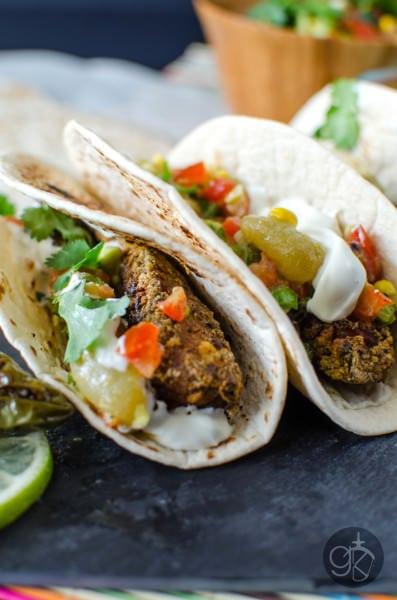 Crispy Allspice Fish Tacos with Salsa - Smoky and spiced Tilapia fillets lightly floured and fried. Crispy and delicious, it's perfect to eat on its own or in a taco with a fresh crunchy salsa!