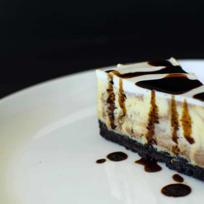 Balsamic Swirl Lime Cheesecake