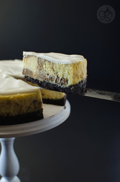 Balsamic Swirl Lime Cheesecake - Deliciously creamy Lime Cheesecake with a tangy balsamic swirl that takes your ordinary cheesecake to a whole new level!
