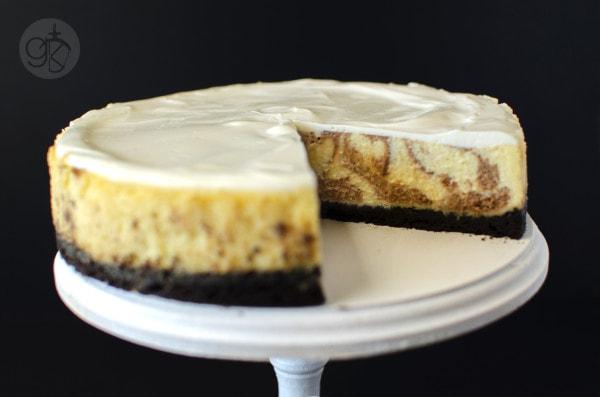 Balsamic Swirl Lime Cheesecake