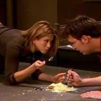 Rachel and Chandler eating Cheesecake off the Floor!