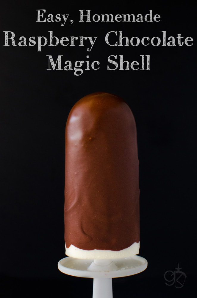 Easy Homemade Raspberry Chocolate Magic Shell - Easy to make Homemade Chocolate Magic Shell that you can easily customize and add some fruity flavours and pizzazz!! - Perfect for Ice Cream Sundaes, Icy Chocs, Choc Top Ice Creams.