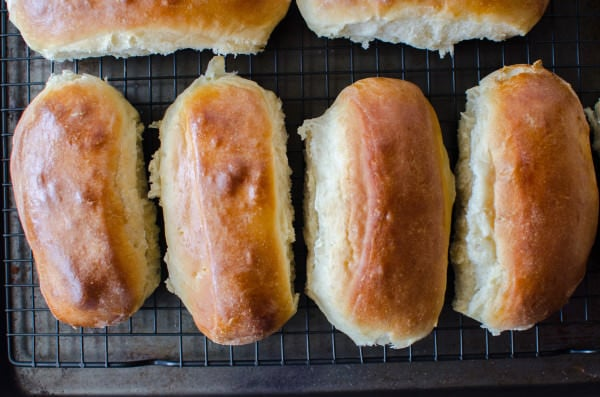 Easy Homemade Hot Dog Buns - Easily adapted to make subs, burger buns too!