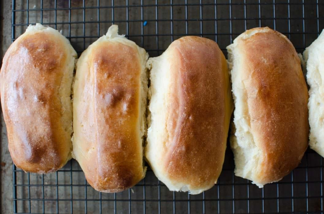Easy Homemade Hot dog Buns