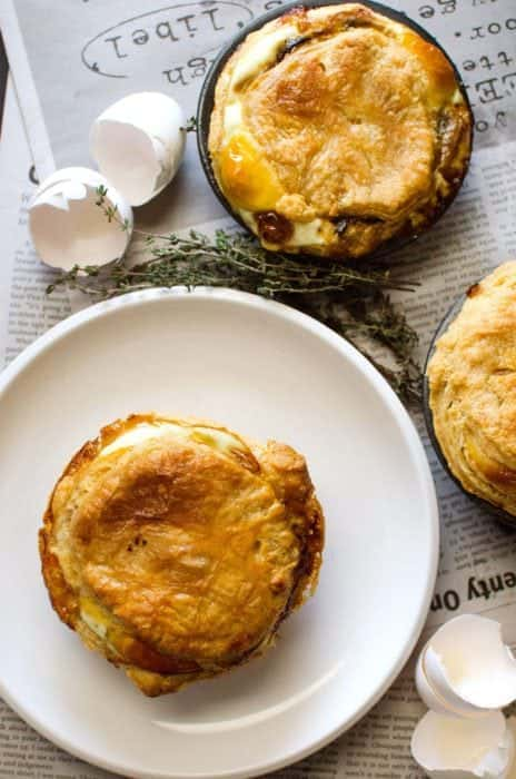 Mushroom, Bacon & Egg Breakfast Pie