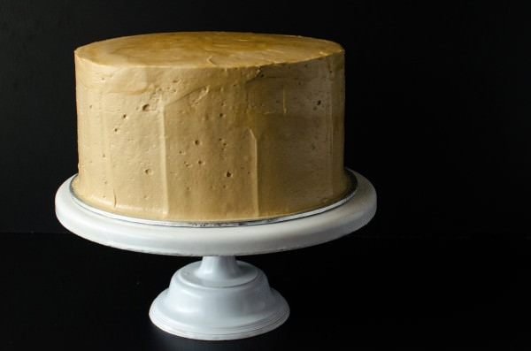 Mocha Genoise Cake with Coffee Caramel Frosting