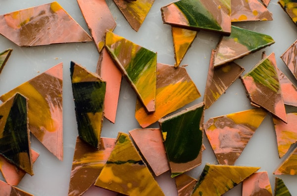 Painted Chocolate Shards