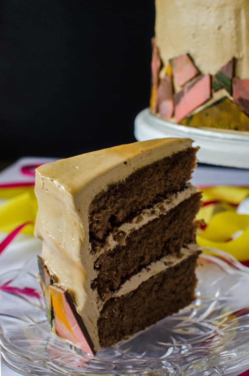 Mocha Genoise Cake With Coffee Caramel Frosting The Flavor Bender