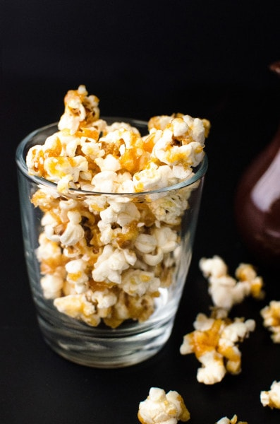 Creamy Kettle Corn Flavoured Popcorn Ice Cream! Made with Caramel with a salty bite just like Kettle Corn this popcorn ice cream is just full of popcorn flavour! Absolutely delicious and the perfect movie time ice cream as you can personalize it with you favourite candy bars too!