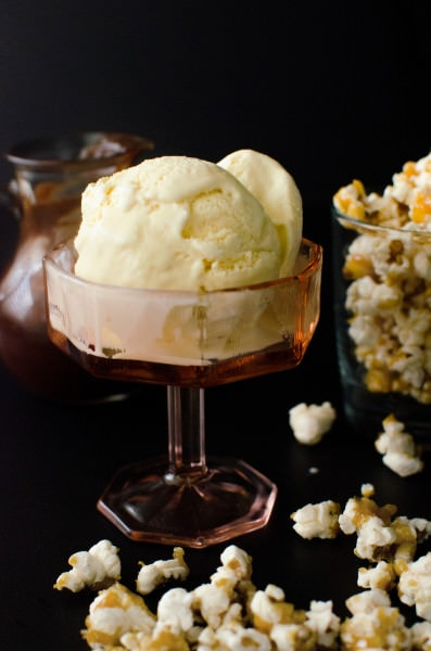 Kettle Corn Ice Cream (Salted Caramel Popcorn Ice Cream) | The Flavor ...