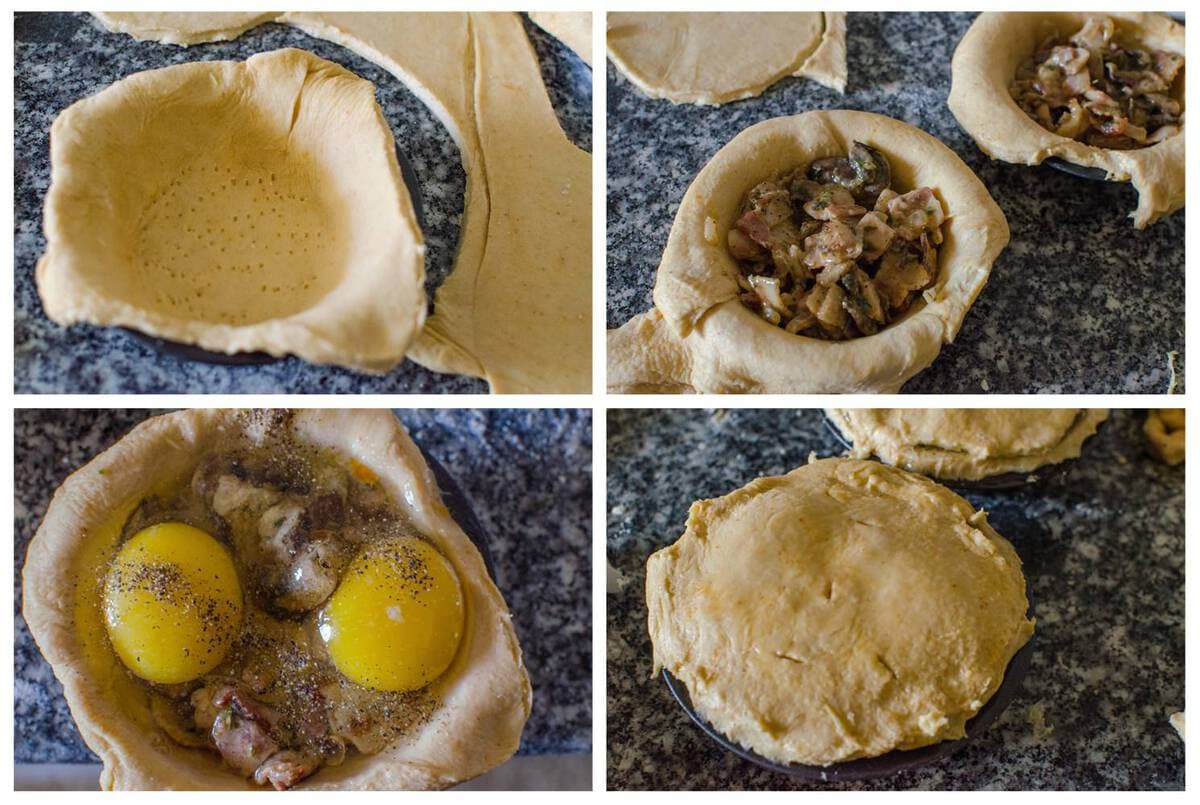 Mushroom, Bacon & Egg Breakfast Pie | The Flavor Bender
