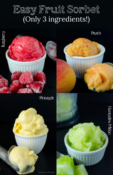 Easy Fruit Sorbet - Learn the difference between different frozen Desserts AND get the recipe for these delicious Sorbet!!