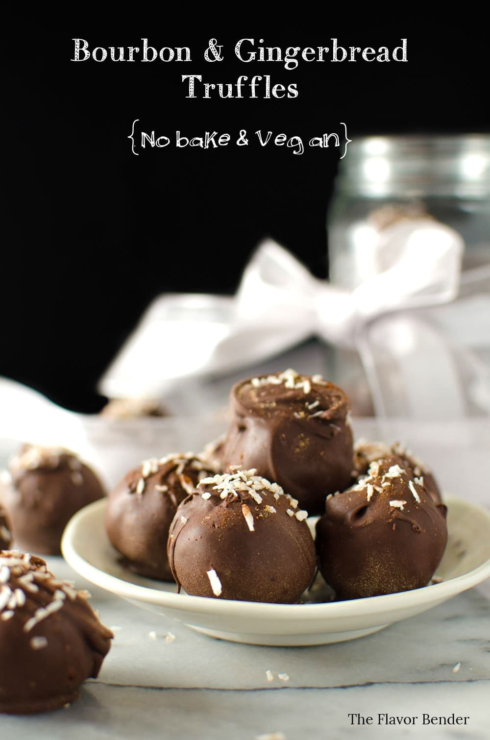 Bourbon Gingerbread Truffles covered in chocolate - These are delicious and Vegan and No-bake! You can make these gluten free, with GF gingersnap cookies.