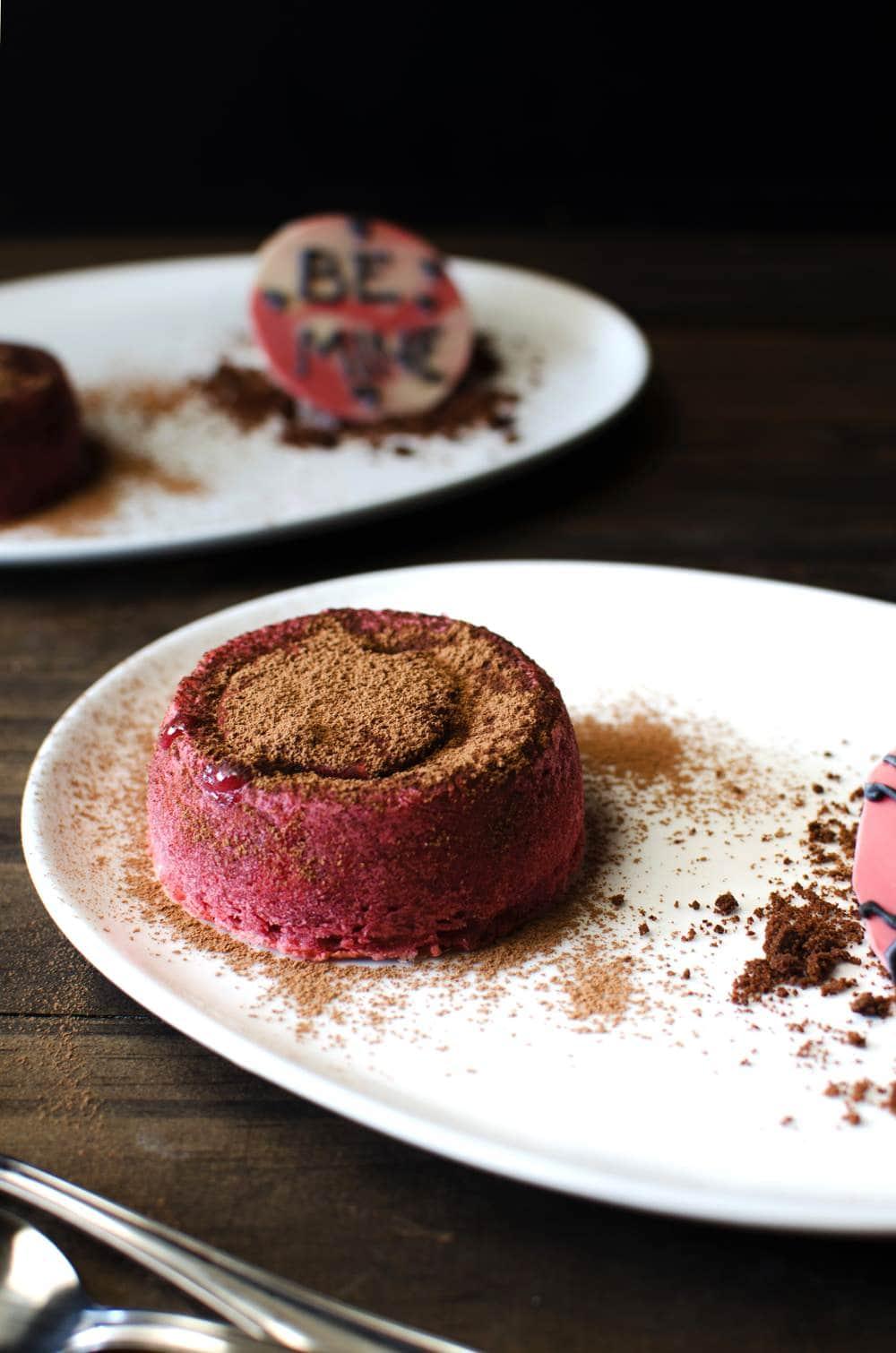 The Bleeding Heart Cake - Raspberry and White Chocolate Lava Cake ...